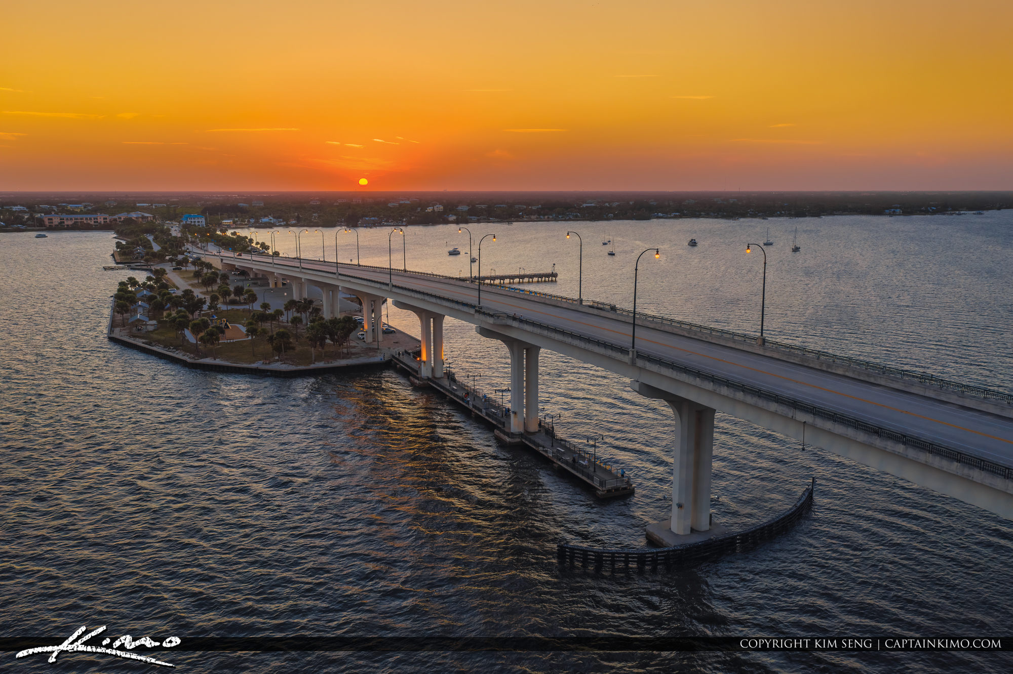 Jensen Beach Causeway Sunset at Indian River