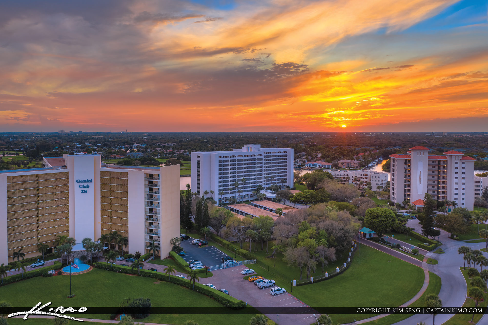 North Palm Beach Real Estate Condo Sunset Aerial Photography