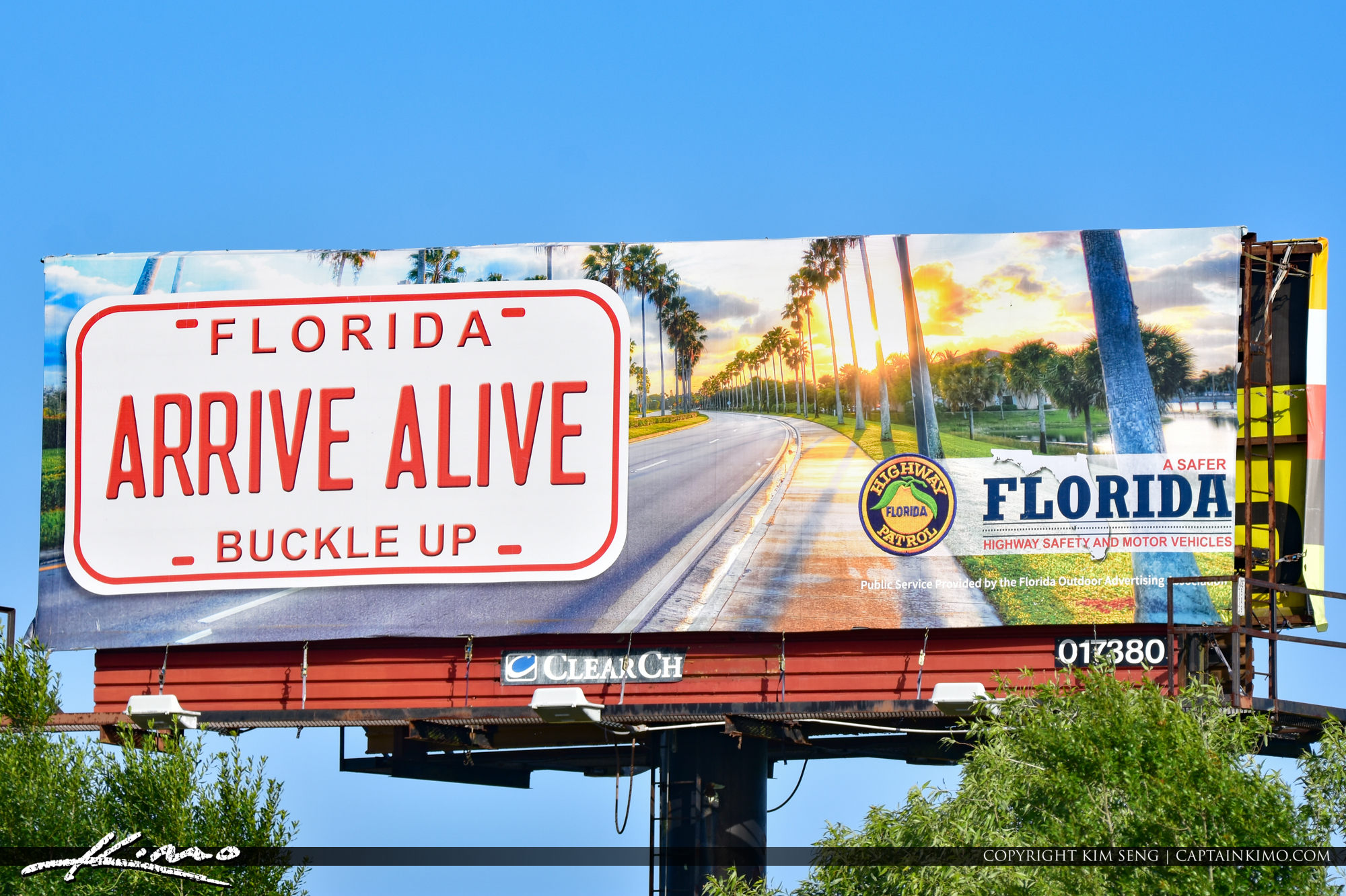 Arrive Alive Florida Patrol Billboard