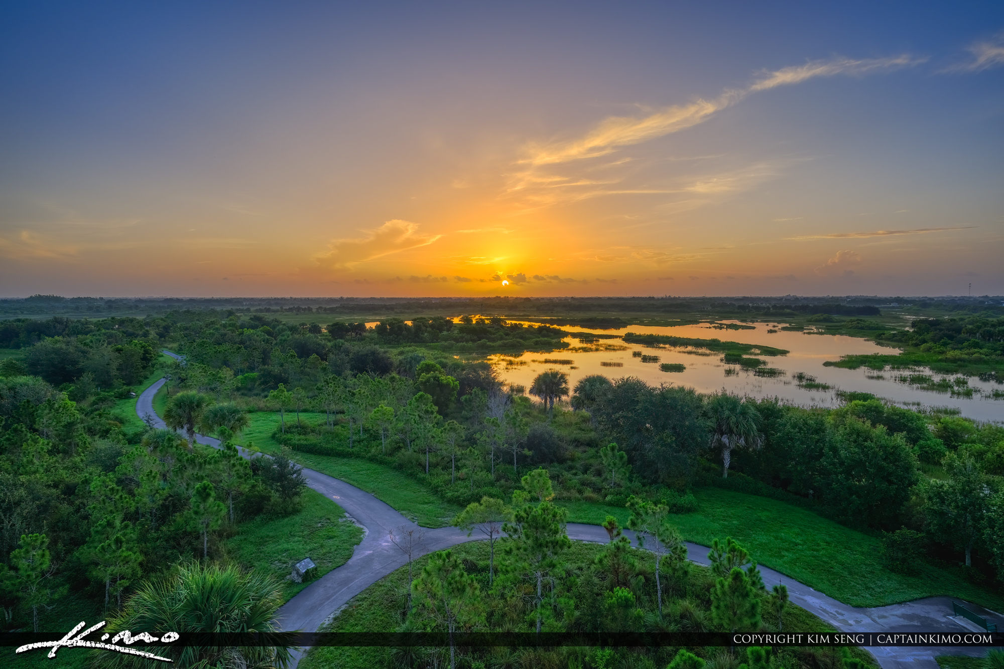 Wellington Environmental Preserve Sunrise from Lookout Tower