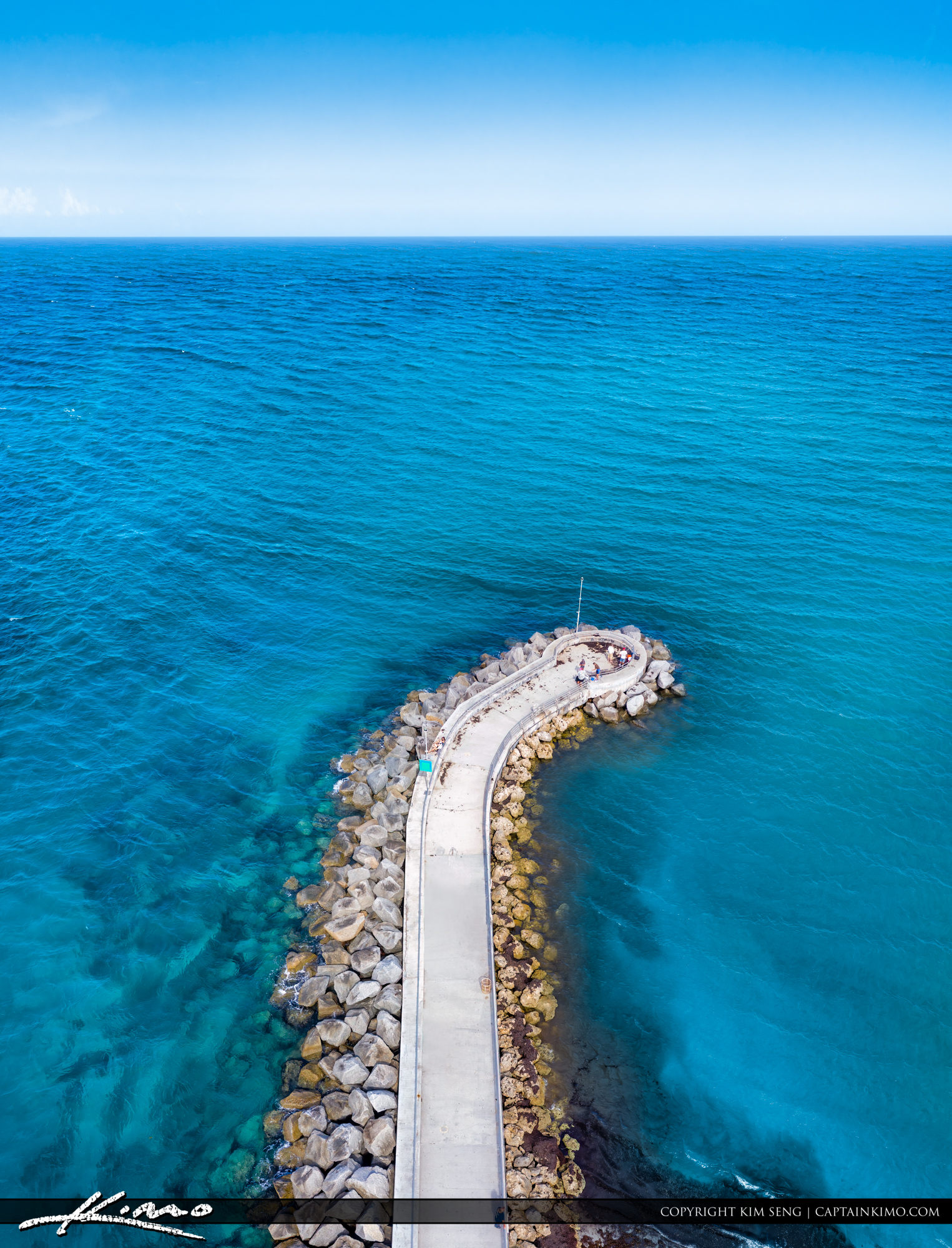 Bluewater at the Jupiter Inlet Fishing Jetty