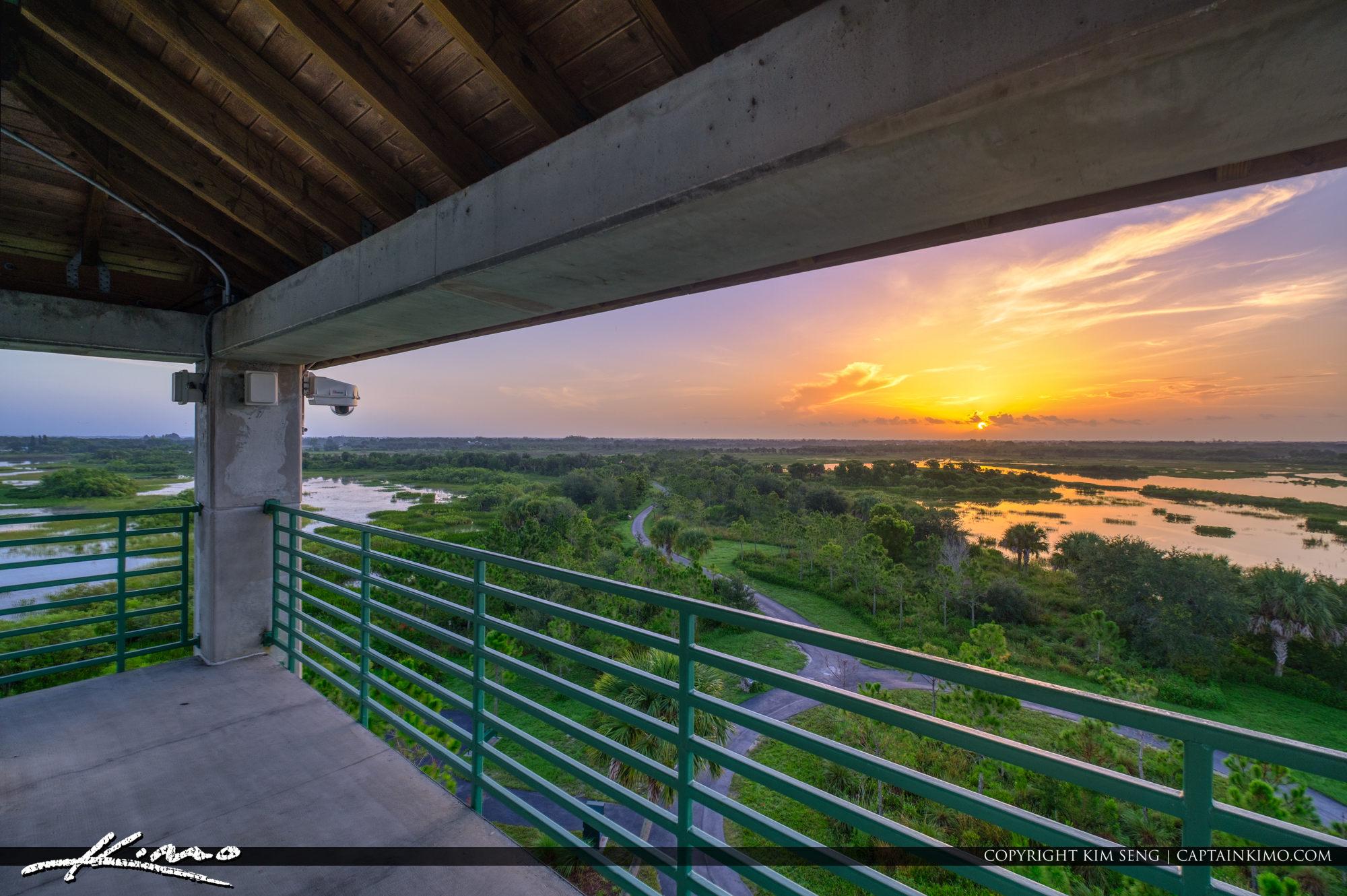 Top of Tower Wellington Environmental Preserve Sunrise Florida Wetlands