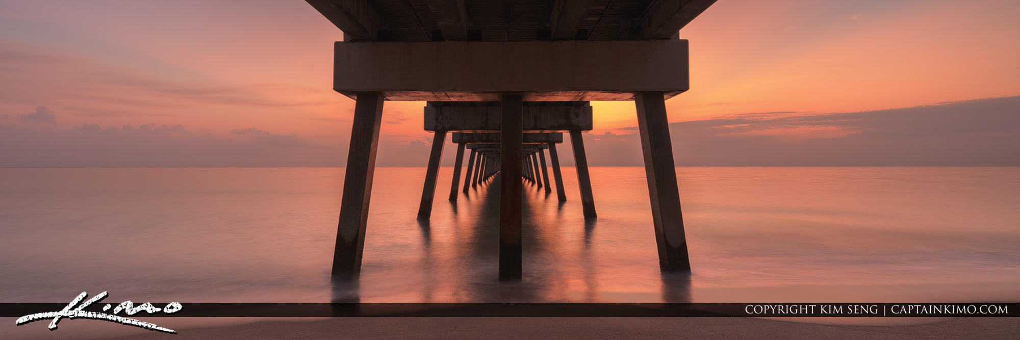 Juno Pier Sunrise Panorama