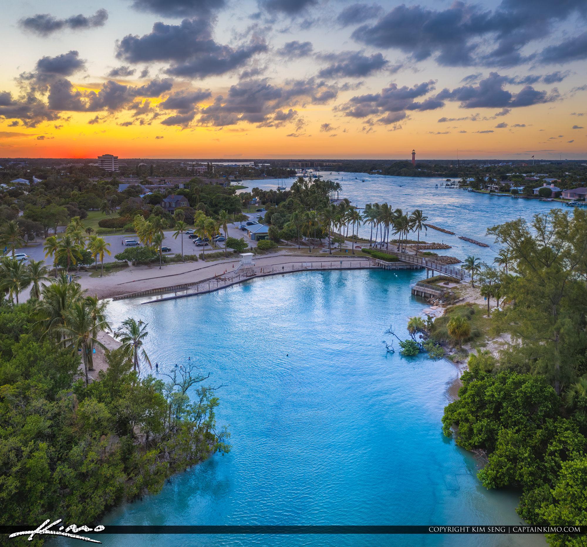 Blue Lagoon Dubois Park Jupiter Florida Sunset