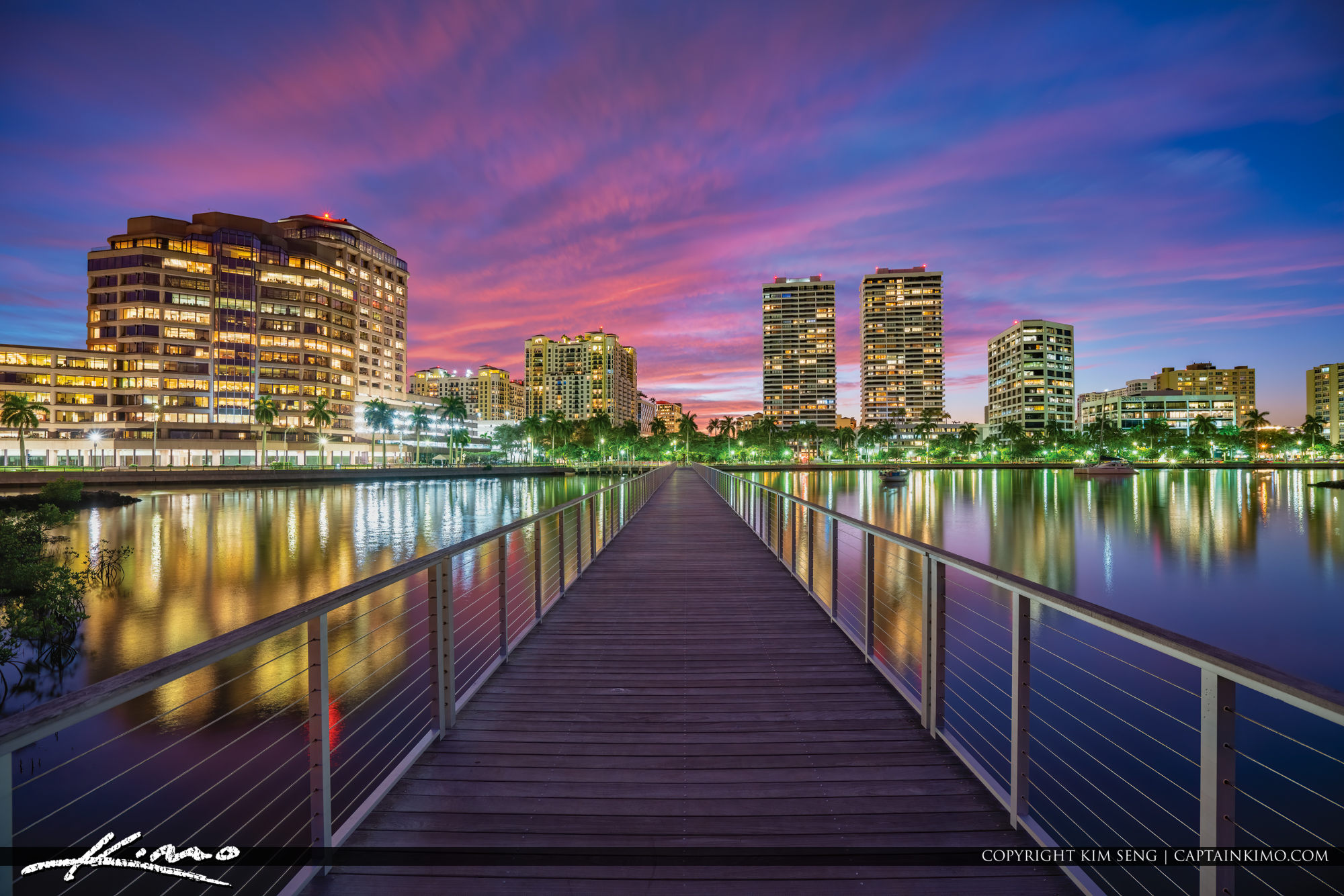 West Palm Beach South Cove Natural Area Purple Sky Sunset