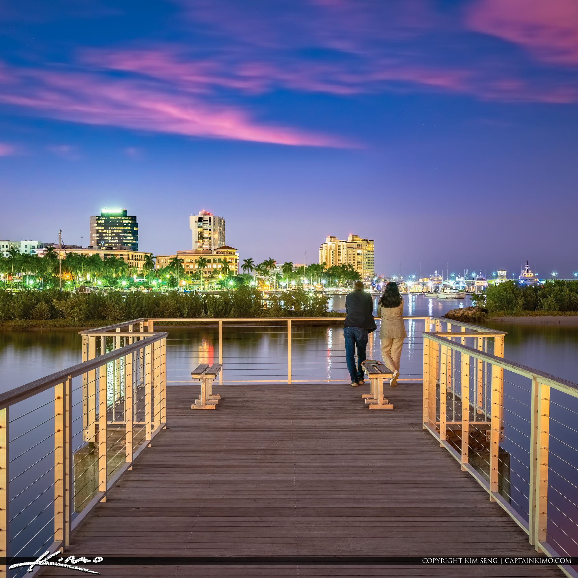 Enjoying the West Palm Beach at Night South Cove Natural Area