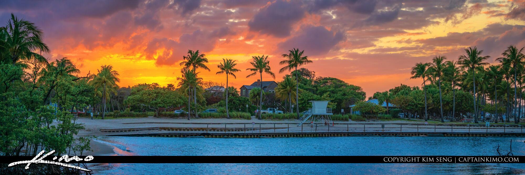 Dubois Park Lagoon Sunset Panoramic Jupiter Florida