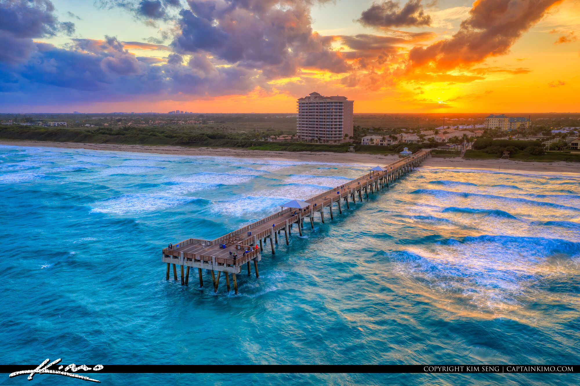 HDR Photography Sunset from Juno Beach Pier