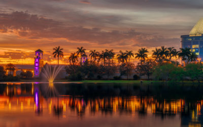 Palm Beach Gardens Sunset Pano Divosta Towers