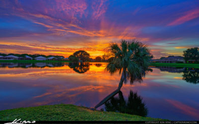 Lake Catherine Sunset from Palm Beach Gardens Resident Lake