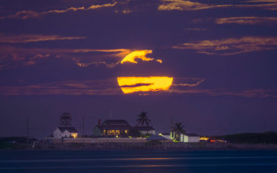 Fullmoon Rise Stuart Florida Hutchinson Island Over House of Refuge
