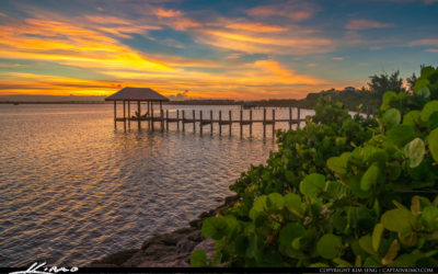 Sunset Stuart Beach Waterway Pier Hutchinson Island