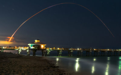 SpaceX Launch November 15 2020 Resilience Juno Beach Pier
