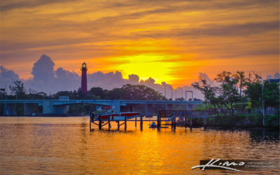 Jupiter Lighthouse Waterway Sunrise US1 Bridge