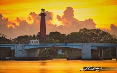 Golden Sunrise Waterway Jupiter Lighthouse US1 Bridge