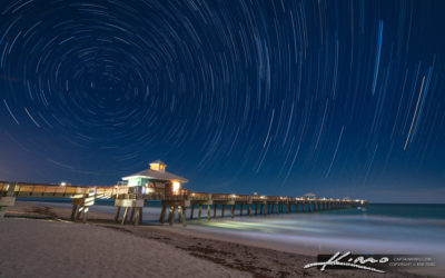 Juno Beach Pier Under the Star Light