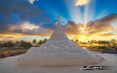 Sandi Christmas Tree Sand Castle West Palm Beach Sunrise 2020