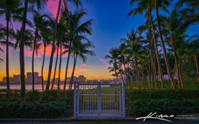 Sunset at the Gate Flagler Palm Beach Island