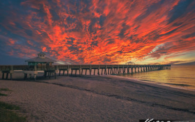 Juno Beach Pier Sunrise and Amazing Cloud Colors