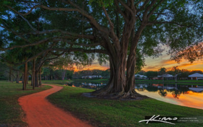 Lake Catherine Park Along the Red Trail Sunset Palm Beach Garden