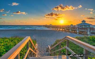 Juno Beach Pier Sunrise March 11 2021
