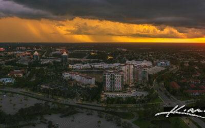 Sunset During a Storm Over Palm Beach Gardens Florida