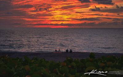 Juno Beach Sunrise Over the Atlantic Ocean