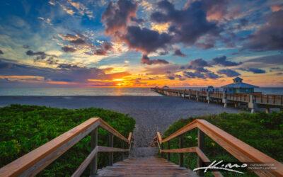 Juno beach Pier Sunrise June 24 2020