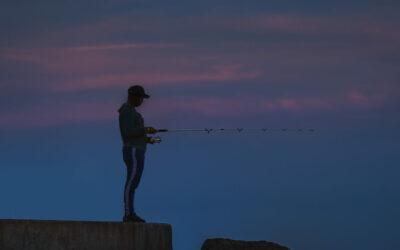 Moonrise Jupiter Inlet Fishing
