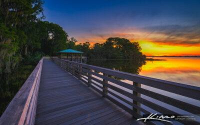 Sunset Palm Island Boardwalk Mt Dora Florida