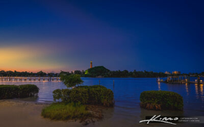Jupiter Inlet Lighthouse from Love Street at Waterway