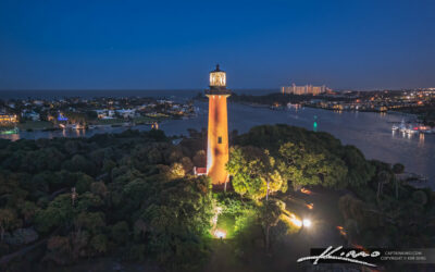 Blue Twilight Jupiter Lighthouse and Inlet Palm Beach County Florida