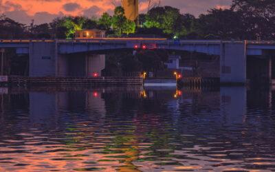 Jupiter Lighthouse Sunrise Reflection with US1 Bridge