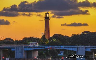 Jupiter Lighthouse Sunrise at US1 Bridge