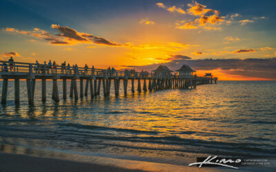 Naples Pier at Sunset Gulf Coast Florida