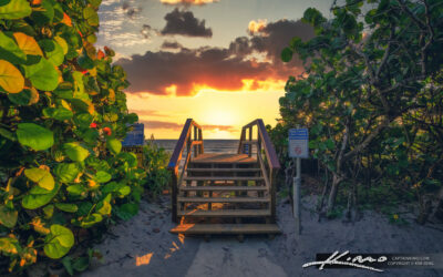 Coral Cove Park Sunrise Beach Entrance at Stairs