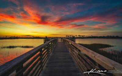 Pine Glades Sunset at Pier Jupiter Florida